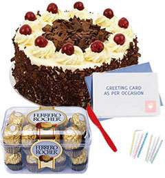 Eggless Black Forest Del...