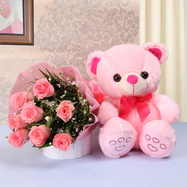 Perfect Combo pink roses...