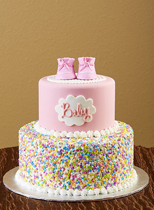 Girl Baby Bootie Cake