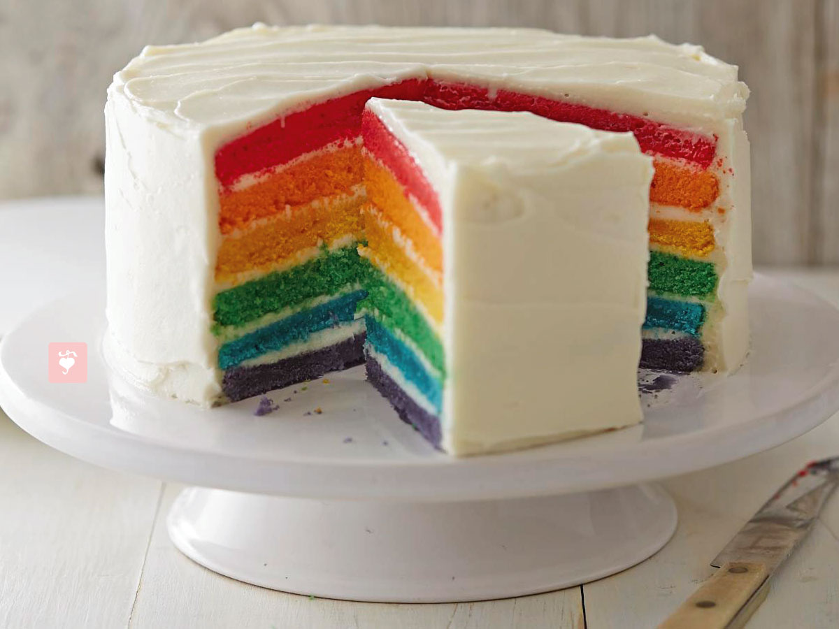 Rainbow Decorated Cake