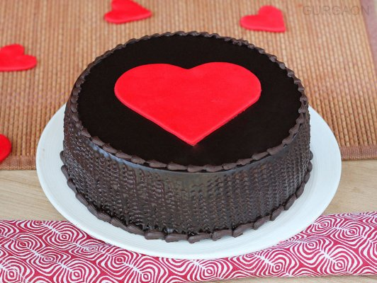 Truffle Cake Upon Heart