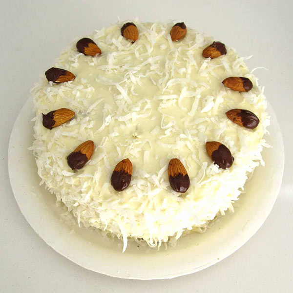 White Forest Almond Cake