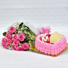 Pink rose , Strawberry c...