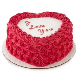 Strawberry Cake in heart...