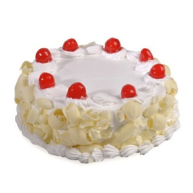 White Forest Creamy Cake