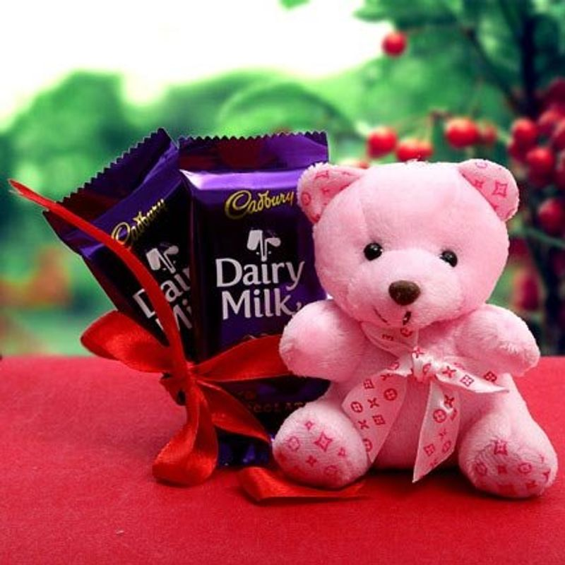 Pink Teddy bear with Dai...