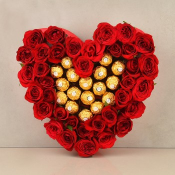 30 Red rose,16 pcs Ferre...