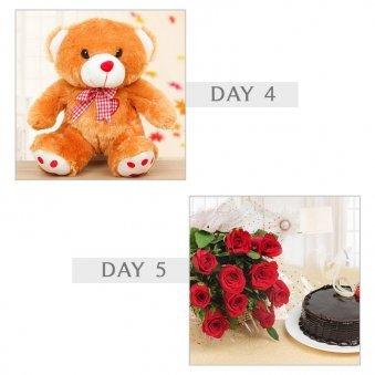 Teddy bear, Roses , choc...