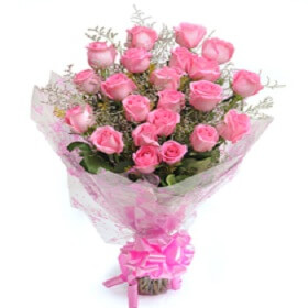 Bouquet of 18 pink Rose