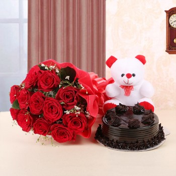 Roses, Chocolate truffle...