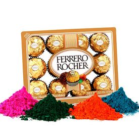 chocolate with holi color