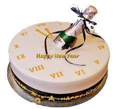 happy new year watch cake