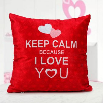 Keep Calm Love pillow.