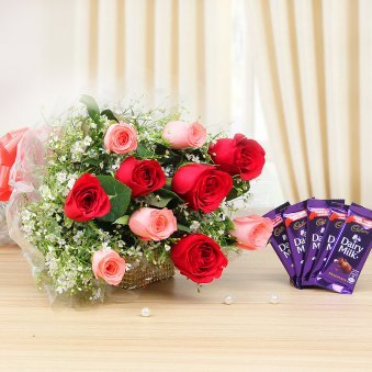 Mix Roses with Dairy mil...