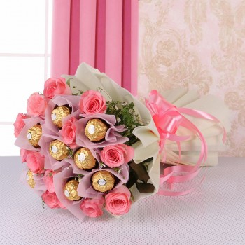 Rochers with Pink Roses.