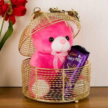 Pink teddy, Dairy milk.