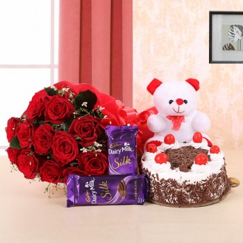 Black forest Cake. Teddy...